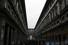 View of the Galleria degli Uffizi from the Palazzo Vecchio (Veronique Debord) Tags: italy florence uffizi galleria