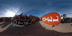 Location Scout - Neon Graveyard 2, Las Vegas, Nevada - 360 (Sam Rohn - 360 Photography) Tags: panorama usa signs abandoned geotagged photography hotel photo interesting nikon neon desert lasvegas nikond70 decay nevada motel panoramic photograph googie filmmaking stitched filmproduction 360x180 qtvr scouting 360 360x180 panography filmlocation locationscouting neonboneyard neongraveyard oldsigns locationscout equirectangular 105mmf28gfisheye filmlocations filmscouting nylocations samrohn realvizstitcher locationscouts geo:lat=36177423 geo:lon=115134715 filmscout virtiualtour