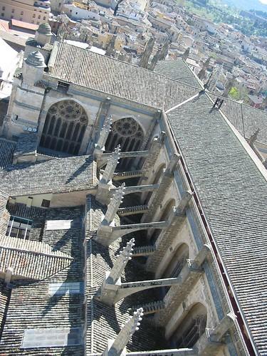 Cruz latina de la Catedral de Toledo vista desde la torre