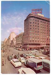 Grand Hotel on Adderly and Strand Street, 1967 (mallix) Tags: old holiday vintage southafrica postcard memories memory era change 1970 1960s worldcup 1970s apartheid 2010 1960 grandhotel soccerworldcup strandstreet adderlystreet worldcup2010 1967capetown fifa2010