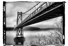 Mid-Hudson bridge in the fog (Desolate Places) Tags: new york fog river franklin lunchtime roosevelt poughkeepsie hudson fdr delano midhudsonbridge