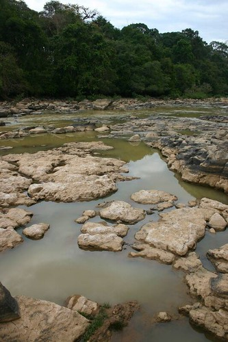 One of the many rocky pool areas in Cat Tien N.P.