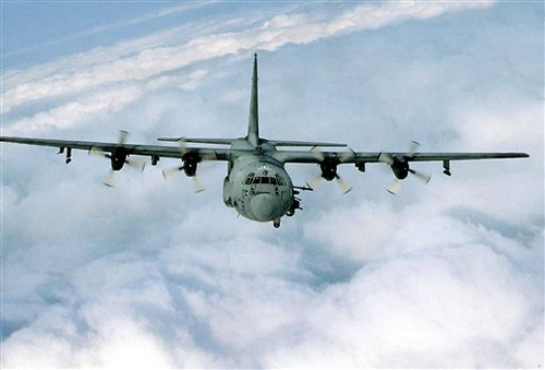 "US AC130 gunship which bombed Somali territory purportedly in pursuit of ""terrorists"". The attacks represent an escalation of American aggression in the Horn of Africa. by Pan-African News Wire File Photos"