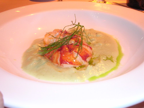 Lobster Velouté with Fennel and Tarragon Oil