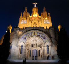 Tibidabo - General view in the night