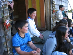 Kids watch theater productiont
