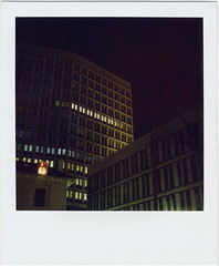(gliesh) Tags: longexposure night polaroid sx70 cheltenham nofilter 600film eagletower sx70sonaronestep