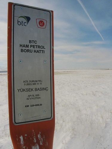 BTC Pipeline near Tercan, eastern Turkey