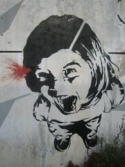 A Bullet in the Head (Dr Case) Tags: streetart stencil lisbon skran