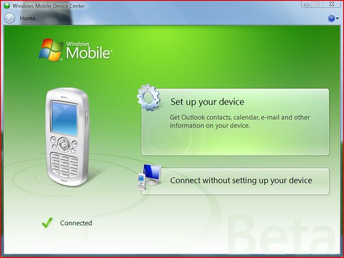 Windows Mobile Device Center BETA