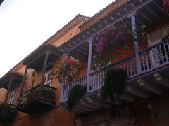 Cartagena de Indias balcony typical colonial Caribbean region Colombia travel photos Latin America blog