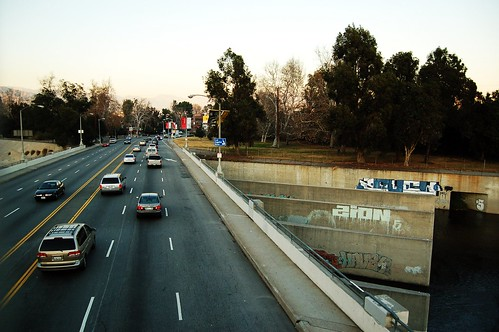 Los Feliz Blvd., Eastbound, As Seen from the Baum Bicycle Bridge