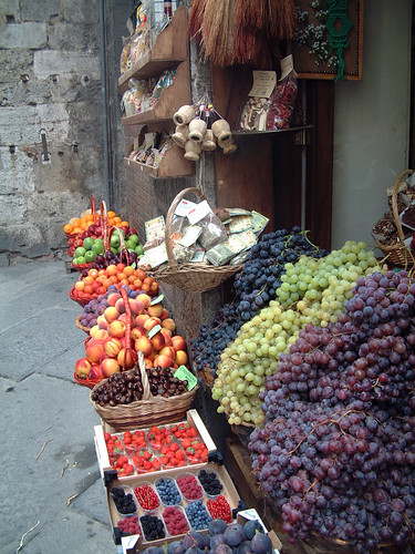 Fruit stand in Siena