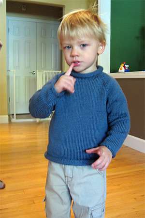 Hudson's sweater knit with Cashmerino Aran yarn