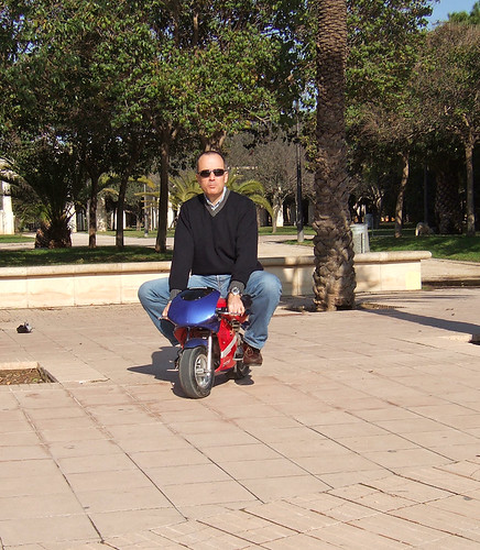 Hey, it's me riding a minibike!