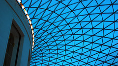 There Is Geometry Above Us (Sifter) Tags: blue roof wallpaper london catchycolors grid nikon 1855 britishmuseum greatcourt d40