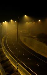 100% humidity (Shemer) Tags: road light urban black lamp yellow fog night