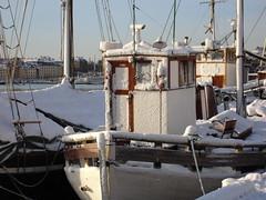 Winter in Stockholm (My little camera2005) Tags: winter snow ice sweden stockholm yacht strandvgen