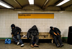 Waiting Area (magnetomotive) Tags: newyorkcity newyork subway manhattan homeless delete8 transit 14thstreet save10 subwaystation savedbythedeltemeuncensoredgroup ftrain