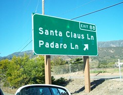 Santa Claus Lane (Mark Zuid) Tags: sign drive pch santaclaus signpost highway101 pacificcoasthighway latosf