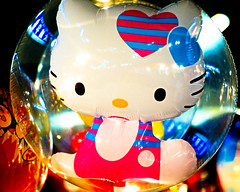 Hello Kitty :-) (manganite) Tags: cute topf25 festival japan tag3 taggedout night digital balloons geotagged fun toys interestingness nikon colorful asia nightshot searchthebest tl hellokitty explore kawaii  nippon d200 nikkor dslr matsuri nihon kanto ibaraki ishioka 50mmf18 10faves i500 interestingness278 utatafeature manganite nikonstunninggallery bubblekitty geo:lat=36190876 geo:lon=140275218 date:year=2006 date:month=september date:day=16