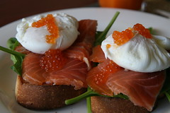 Poached eggs and smoked salmon by Allerina & Glen MacLarty