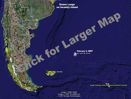 Donna Lange Google Earth 02/03/2007