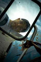Self-portrait abandoned truck (Shuck) Tags: selfportrait abandoned truck mirror autoretrato tony camion espejo abandonado shuck ricardoshuck byshuck tonyshuck
