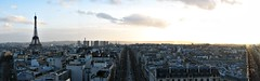 Coucher de soleil (K r y s) Tags: winter panorama paris 75 arcdetriomphe 2007