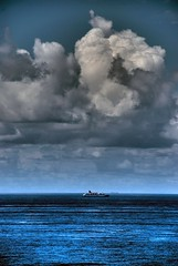 A Cloudy Cruise (Earlette) Tags: cruise blue sea summer clouds boat nikon ship australia nsw hdr tanker crowdyhead midnorthcoast d80