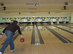 Tim showed off some tight bowling moves. (01/12/07)