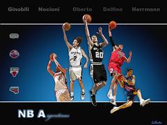 Argentinos en la nba (jalberto - pd) Tags: wallpaper art argentina basketball sport spurs basket deporte wallpapers manu nba ginobili basquet fondodepantalla