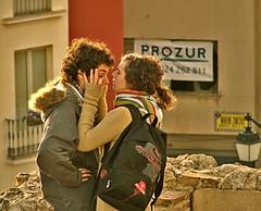the couple II (_tonidelong) Tags: sunset love spain kiss kissing couple pareja amor young lovers badajoz highfive beso amateurs amantes jovenes joven extremadura discusion abeauty amateurshighfive invitedphotosonly