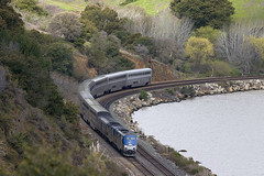 Curving towards Ozol (ahockley) Tags: california railroad trains amtrak californiazephyr ozol carniquezstrait