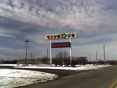 Toys R Us and Hooters Sign