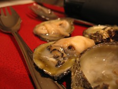 """raw Olympia """"Oly"""" Oyster (Mr. phelps) Tags: food washington raw northwest shell fork shellfish olympia seafood pugetsound oyster oly shuck shucker"""