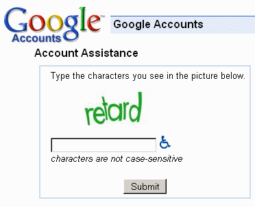 Google asking for a retard confirmation