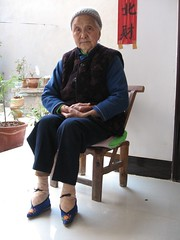 eighty year old wan lifan shows off her bound feet 21/2/7 (luuluu) Tags: china feet yunnan boundfeet tonghai threeinchlotuses