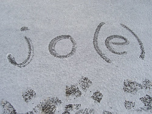 Writing my name in the snow
