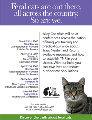 Alley Cat Allies - 2007 Conference Ad