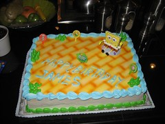 The tres leches cake, complete with Sponge Bob theme. (03/03/07)