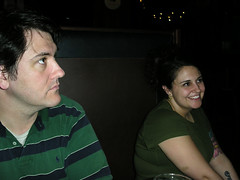 Julie takes a moment from work to chill with the Powers' (Mixxie Sixty Seven) Tags: pub providence rhodeisland powers waitress trinitybrewhouse