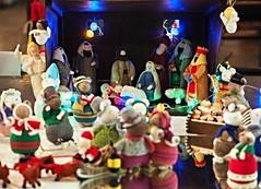 The Knitivity (badger_beard) Tags: st saint giles church castle hill cambridge christmas tree festival 2016 knitted adoration magi kings nativity knitivity manger jesus mary joseph wise men mice angel crib scene