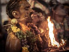 Thrishul Piercing - Kulasekharapatnam, India (Kartik Kumar S) Tags: kulasekharapatnam tamilnadu india muthumaran temple festival piercing thrishool fire light culture tradition faith god canon 600d 50mm