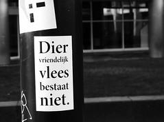 (Miranda Ruiter) Tags: rotterdam blackandwhite photography text sticker writing