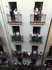 Every balcony in Calle Estafeta will be occupied during the bullrun.