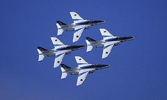 Blue Impulse (delta16v) Tags: blue sky plane airplane airshow acrobat  t4 aerobatics  maneuver blueimpulse jasdf       top30blue