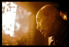 Victor (Diego SL) Tags: old portrait bw face sepia blackwhite ancient grandfather oldman olympus olympusom1 abuelo 50mm18 whitehair primelens shadowf 123faves