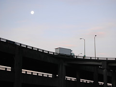 viaduct with moon