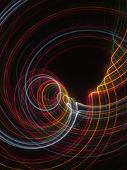 Neon Coriolis (El Ray) Tags: longexposure light lightpainting abstract night kinetic cameratoss openshutter lighttrail